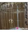 قفس آبکاری شده طلایی طوطی