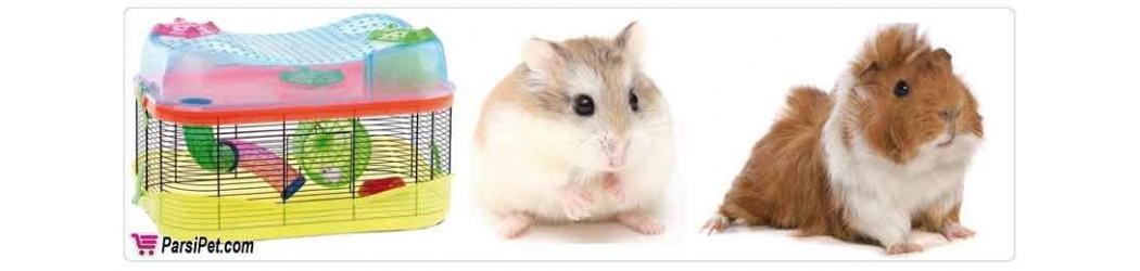 قفس و لوازم بازی و تجهیزات همستر و خوکچه هندی