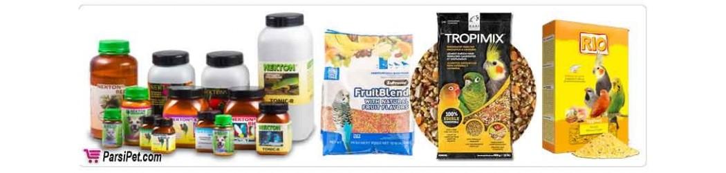 محصولات غذايي و دارویی  پرندگان زینتی و خانگی
